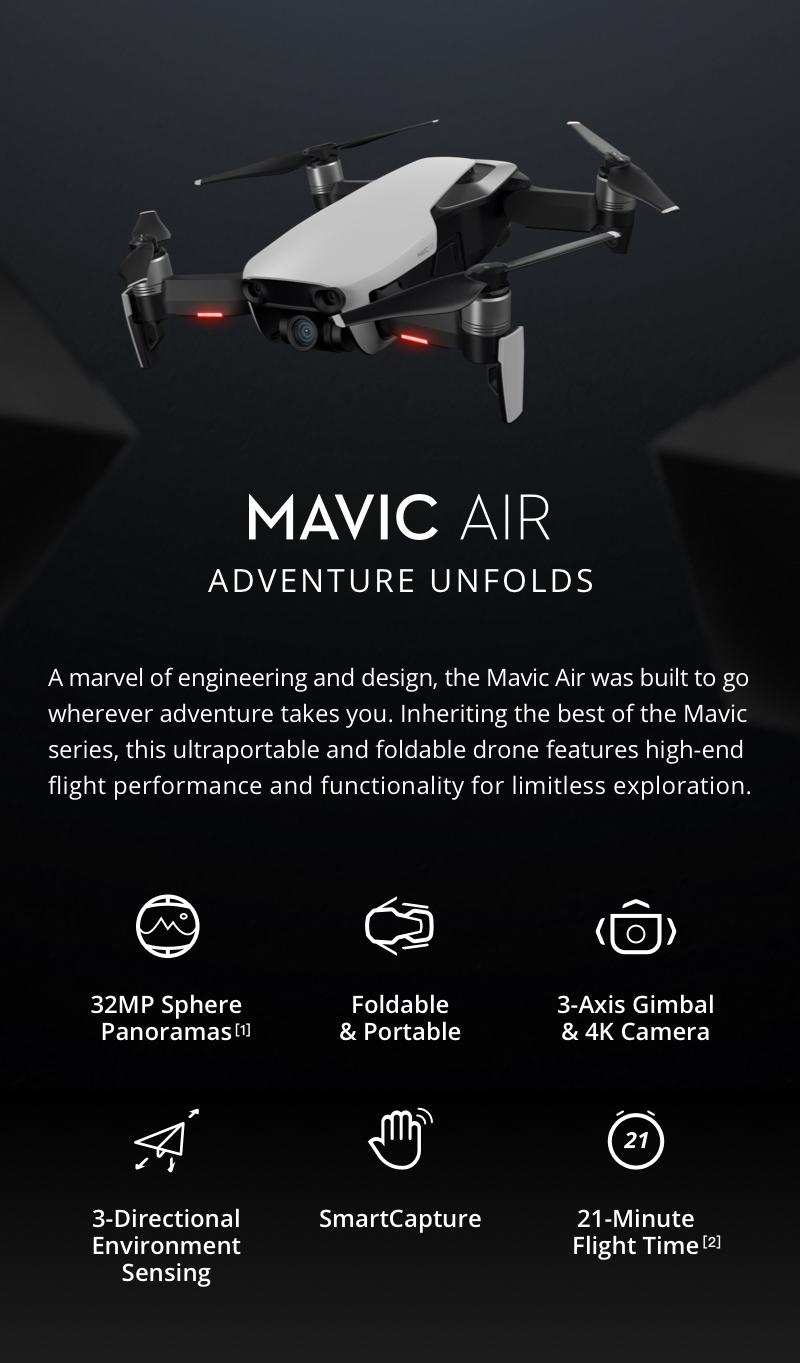 Mavic Air - Ultraportable 4K Quadcopter - Arctic White 15