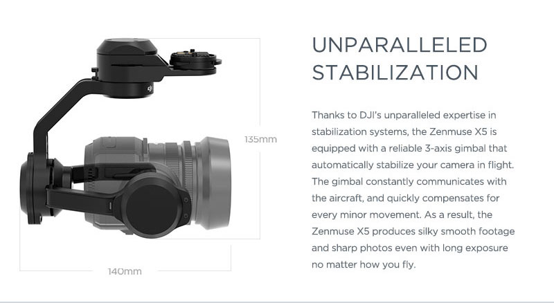 Zenmuse X5 Gimbal and Camera for Inspire 1(Lens Excluded) 14