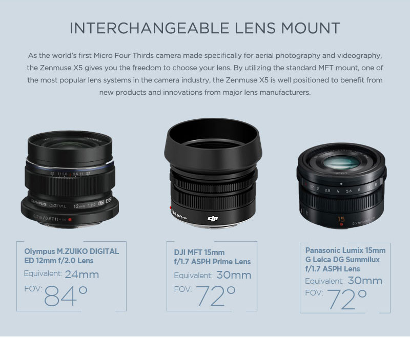 Zenmuse X5 Gimbal and Camera for Inspire 1(Lens Excluded) 15