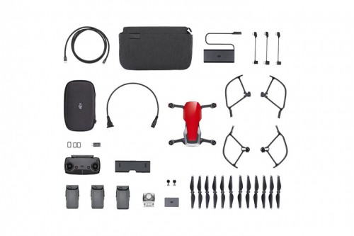 Mavic Air - Ultraportable 4K Quadcopter - Fly More Combo - Flame Red 3