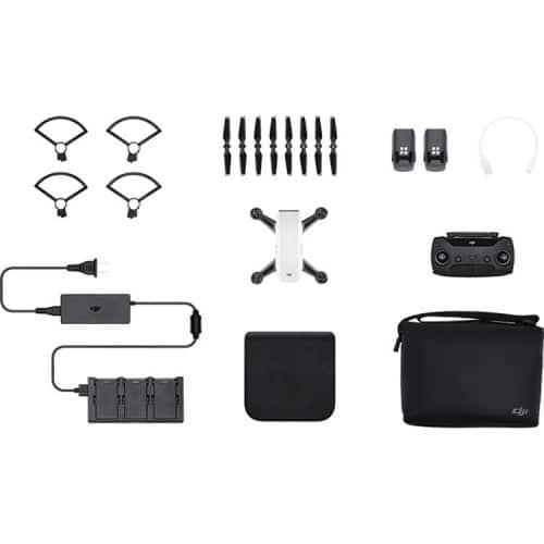 DJI Spark Mini Drone - Fly More Combo With Remote & Accessories - Alpine White 3