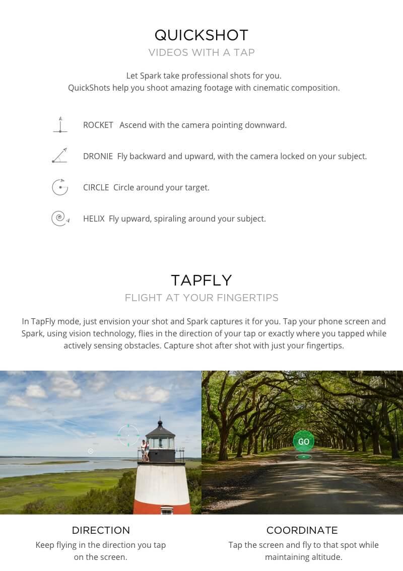 DJI Spark Mini Quadcopter Drone - Meadow Green - 1080P Video 12MP Photos 20