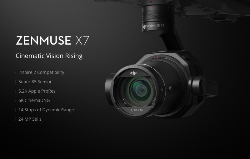 Zenmuse X7 Cinematic Gimbal Camera (Lens Excluded) 1