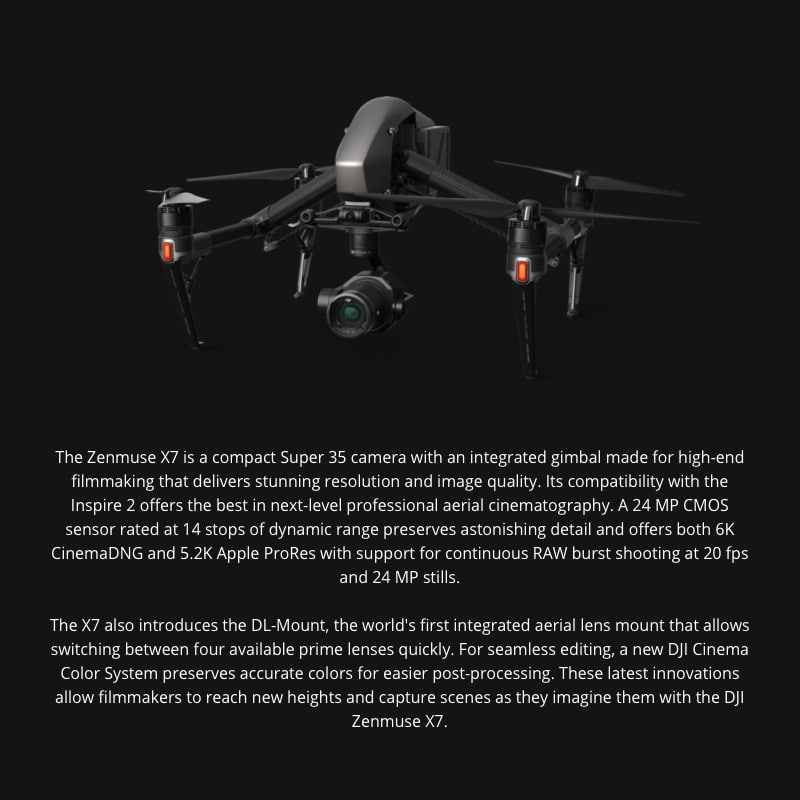 Zenmuse X7 Cinematic Gimbal Camera (Lens Excluded) 2