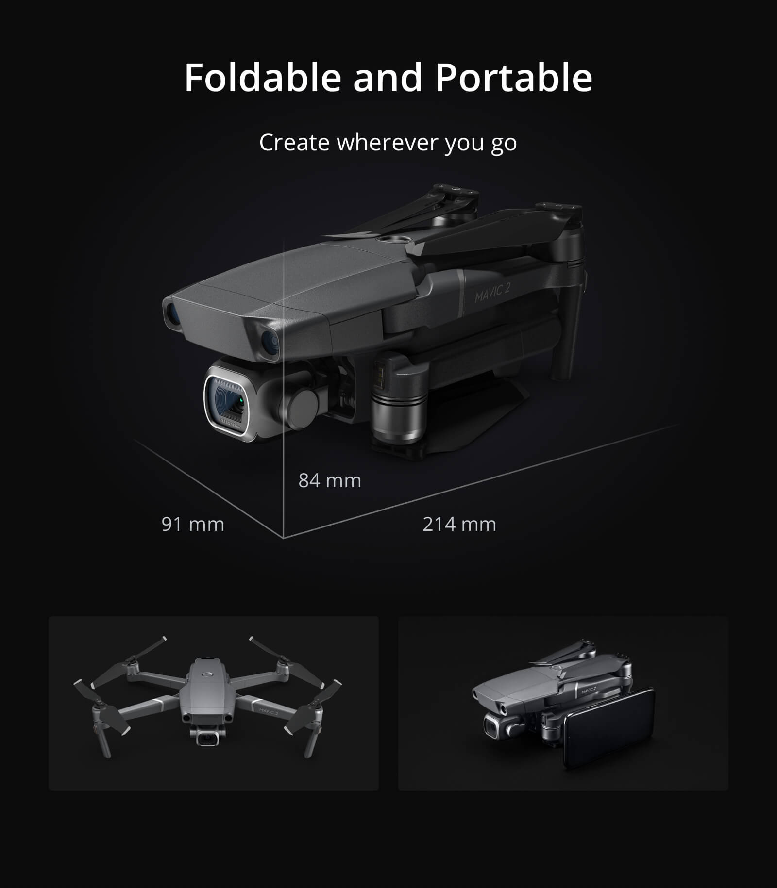 Mavic 2 Pro Quadcopter w/ 20MP Hasselblad Camera with Smart Controller 5