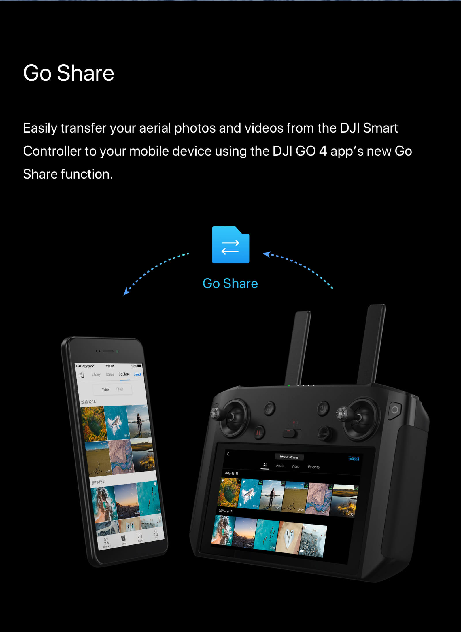 "DJI Smart Controller with 5.5"" 1080p Screen 8"