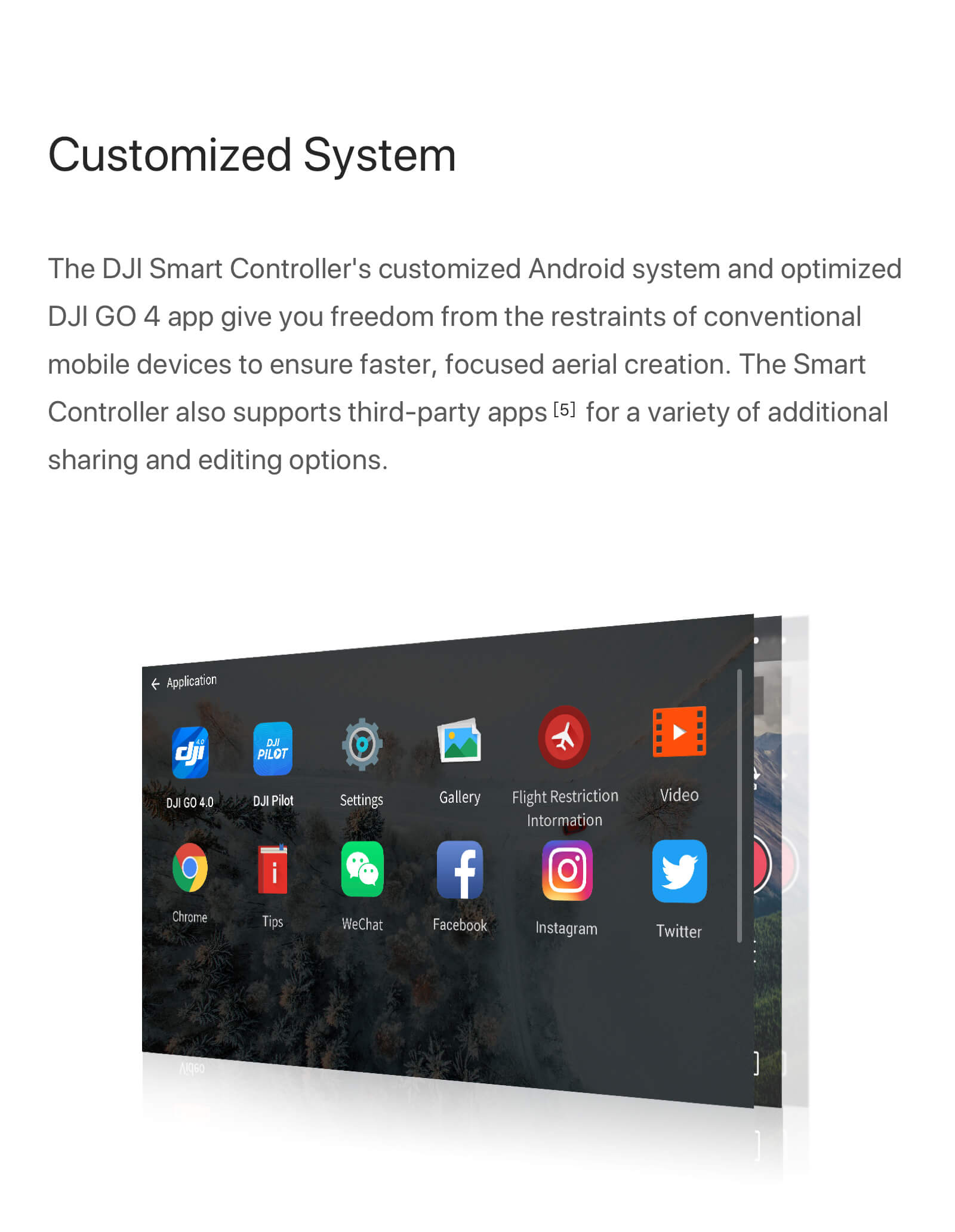 "DJI Smart Controller with 5.5"" 1080p Screen 6"