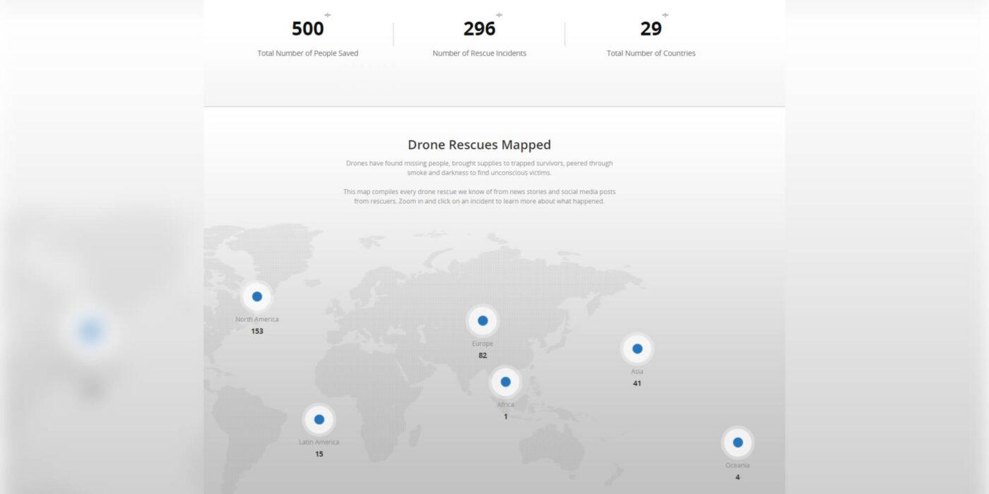 DJIs drone rescue map